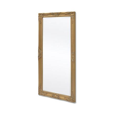 Wall Mirror Baroque Style 120 X 60 Cm Gold 1 item