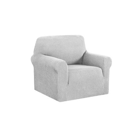 High Stretch Sofa Cover Couch Protector Slipcovers Grey 1-Seater