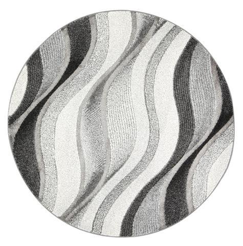Vision Waves Grey Round Rug 160 cm Round