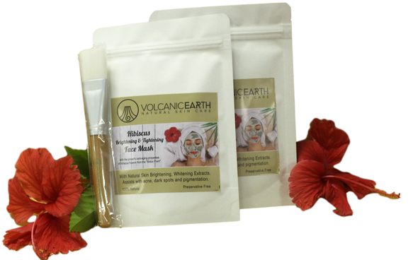 Volcanic Earth Hibiscus Face Mask Two Pack