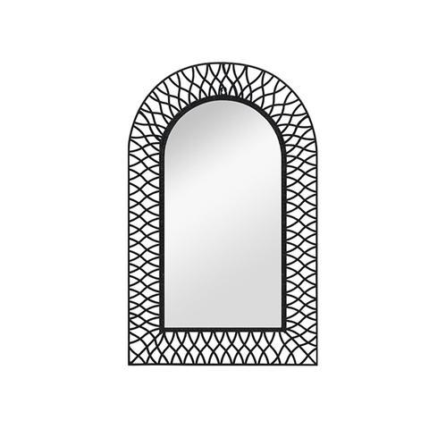 Wall Mirror Arched Black 50 x 80 cm