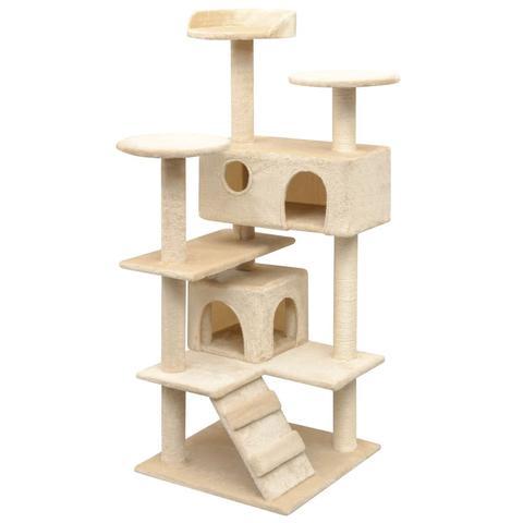 Cat Tree With Sisal Scratching Posts 125 Cm - Beige 1 item