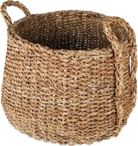 Sea Grass Dim Jhuri Design Basket (set Of 3) 1 item