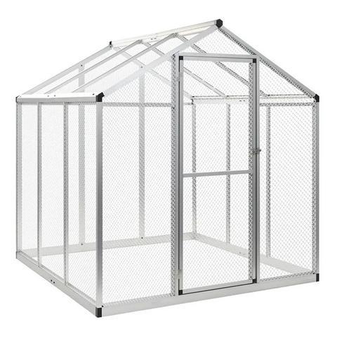 Outdoor Aviary Aluminium 183x178x194 Cm 1 item