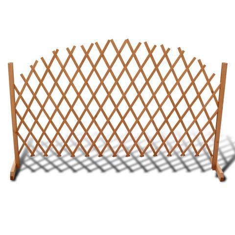 Extendable Wood Trellis Fence 180 X 100 Cm 1 item