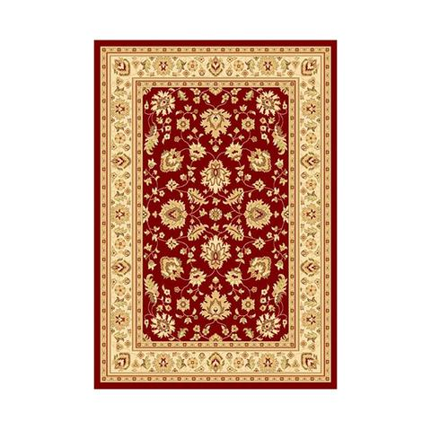 Marakesh Traditional Red Ivory Rug 80 x 150 cm