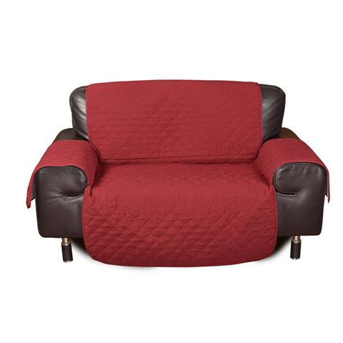 2 Seater Sofa Covers Quilted Couch Lounge Protectors Slipcovers Burgundy 1 item