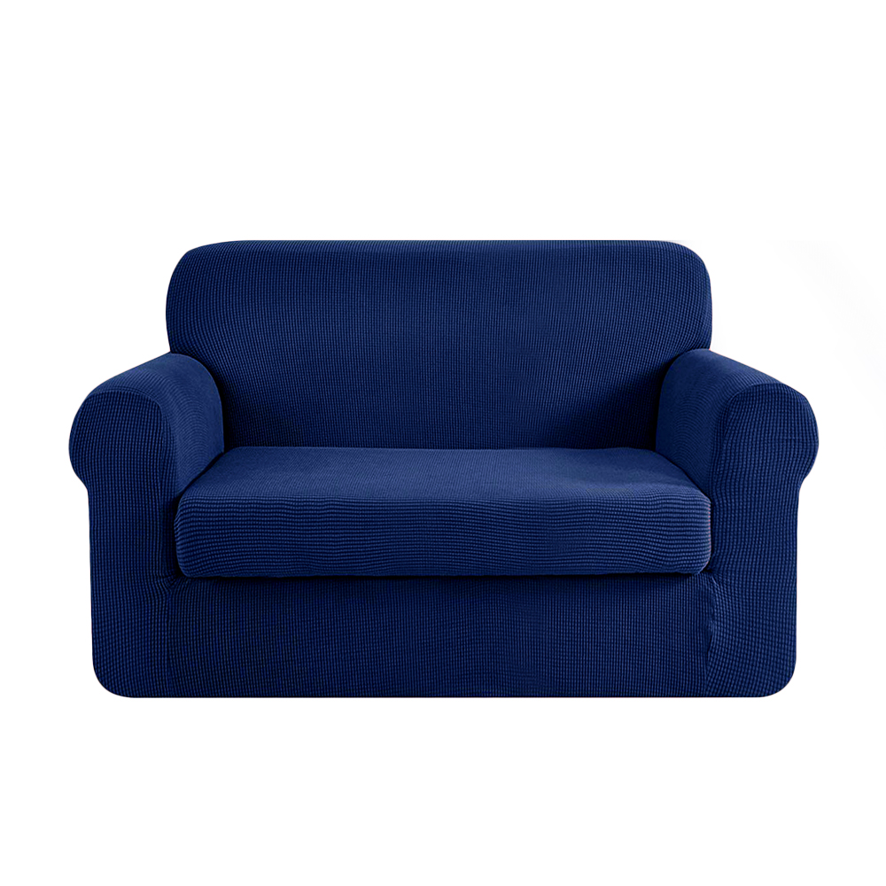 Artiss 2-piece Sofa Cover Elastic Stretch Couch Covers Protector 2 Steater Navy