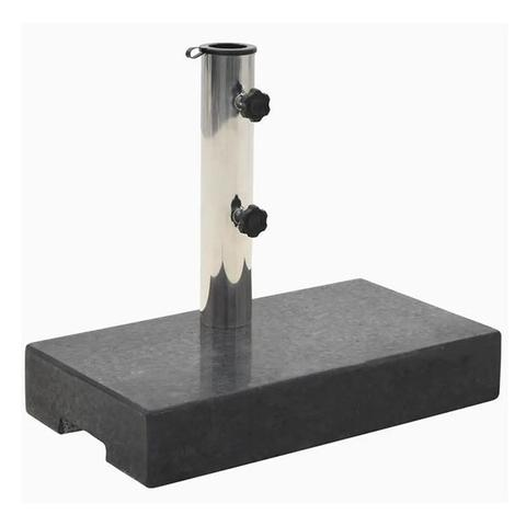 Parasol Base Granite 25 Kg Rectangular Black 1 item
