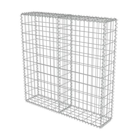 Gabion Wall With Covers Galvanised Steel 100 X 20 X 100 Cm 1 item