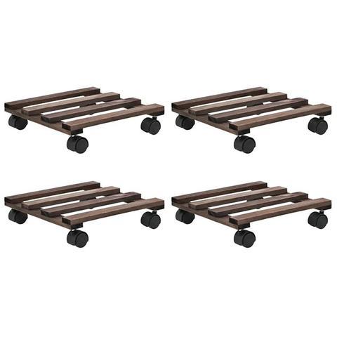 4 Pieces Cedar Wood Plant Rollers 25x25cm 1 item