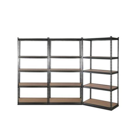 5 Shelves Steel Warehouse Shelving Racking Garage Rack Storage Black 1 item