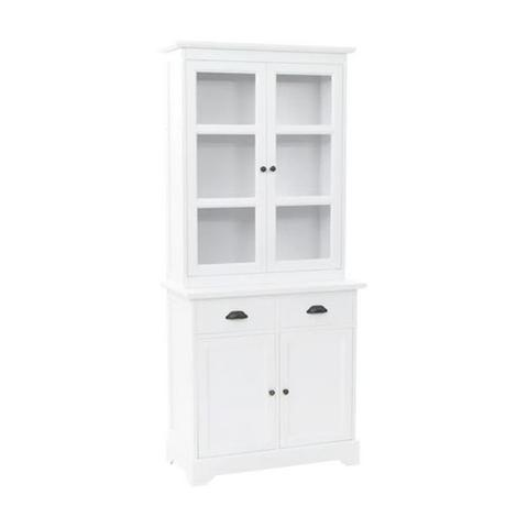 Welsh Dresser With 4 Doors Mdf And Pinewood 80x40x180 Cm 1 item