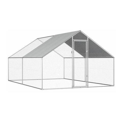 Outdoor Chicken Cage Galvanised Steel Pe 2.75 x 8 x 1.92 m