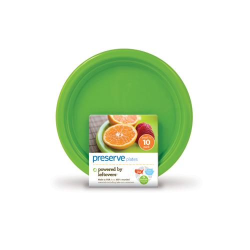 Preserve Apple Green Small Plates (1x10 Ct)