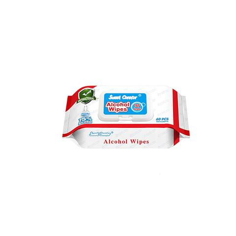 1 Pack 60 Pieces Wipes Alcohol Hand Surface Use 1 item