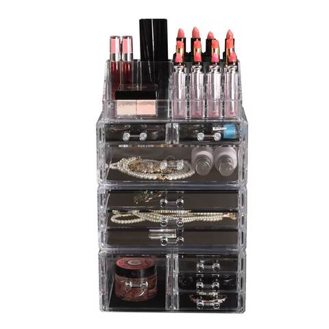 Cosmetic 10 Drawer Makeup Organizer Storage Jewellery Box Acrylic 1 item