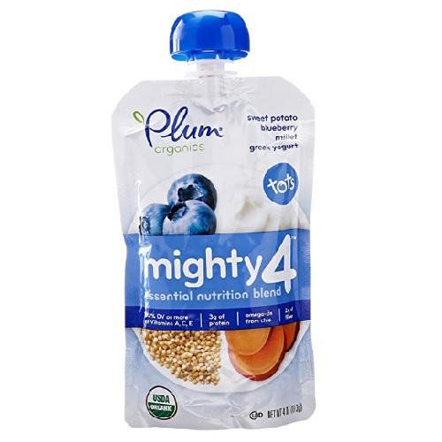 Plum Organics Sweet Potato Blueberry Millet & Greek Yogurt (6x4 Oz)