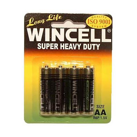 Aa 4 Pack Wincell Super Heavy Duty Batteries 1 item