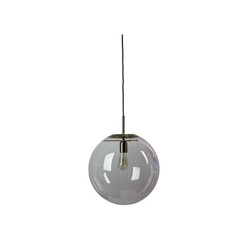 Brushed Brass And Clear Glass Pendant 40 1 item