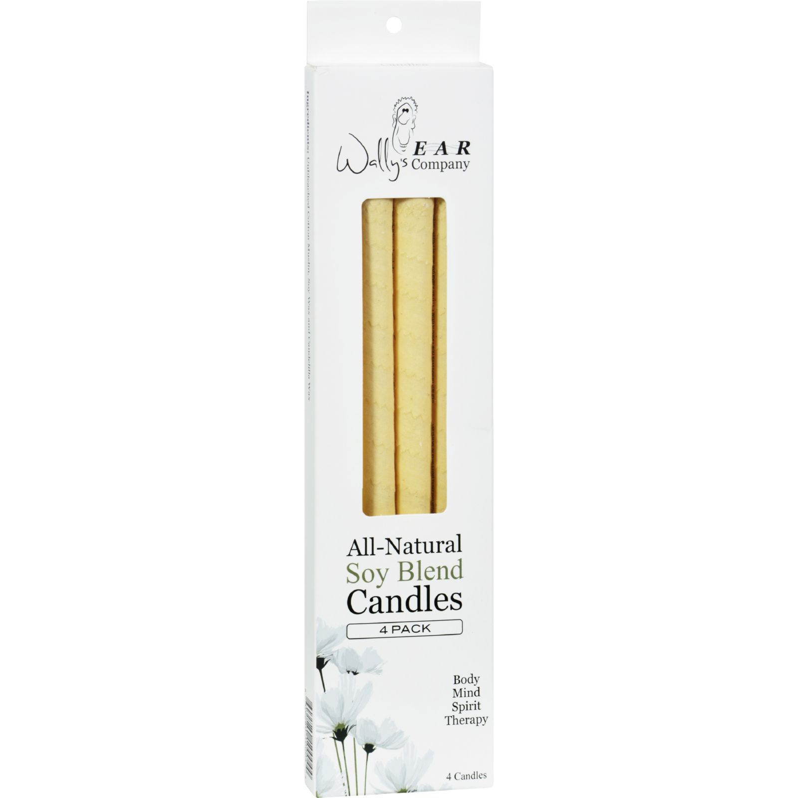 Wally's Ear Candles Plain Paraffin  4 Candles
