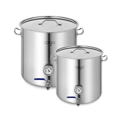 Soga Stainless Steel Brewery Pot 50l 98l With Beer Valve 40cm 50cm 1 item