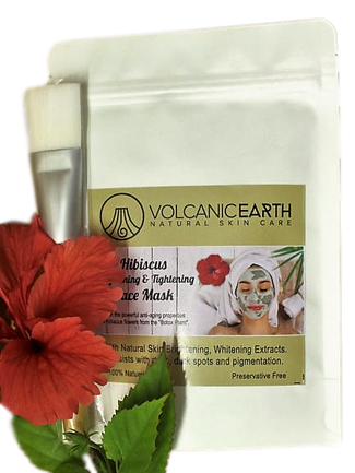 Volcanic Earth Hibiscus Face Mask (with Brush)