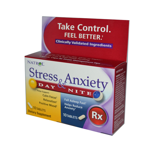 Natrol Stress Anxiety Day and Nite Formula (1x20 Tablets)