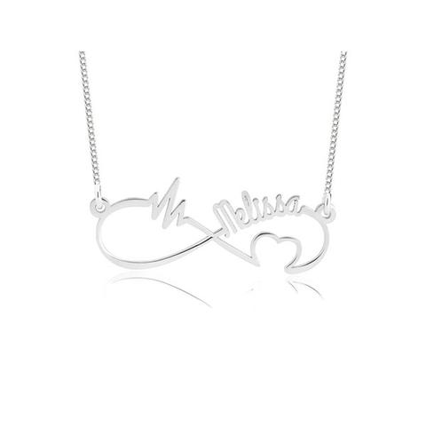 Personalized Infinity Heartbeat Necklace 1 item