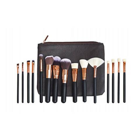 15pcs Soft Pro Face Powder Makeup Brushes Set Blending Highlight Tools 1 item