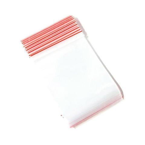 100 Pcs Resealable Food Grade Plastic Zip Close Clear Bag 225 x 150 mm