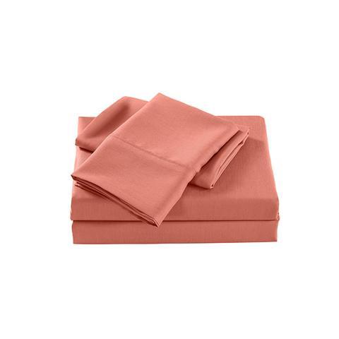 Royal Comfort 2000 Tc Bamboo Cooling Sheet Set Ultra Soft Peach King