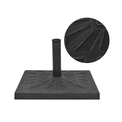 Parasol Base Resin Square Black 19 Kg 1 item