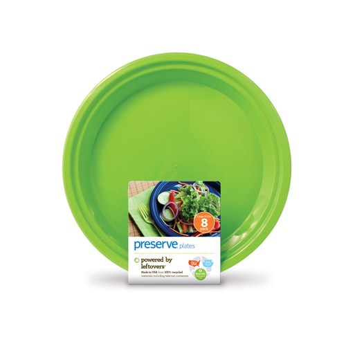 Preserve Apple Green Large Plates (1x8 Ct)