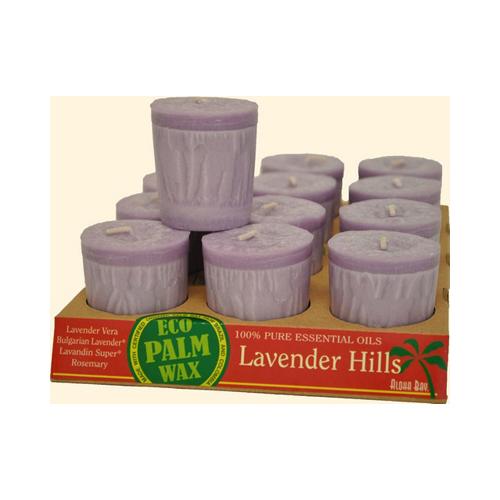Aloha Bay Votive Eco Palm Wax Candle Lavender Hills (12x2 Oz)