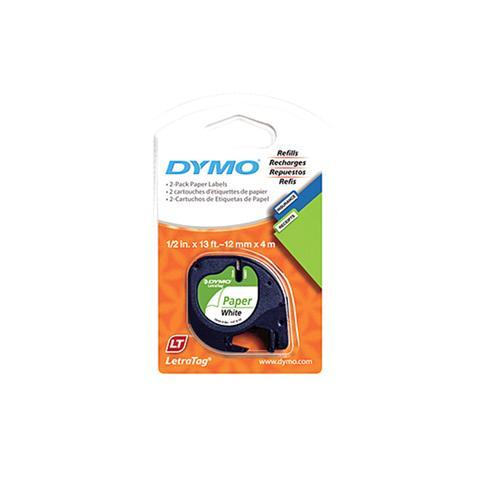 Dymo Lt Paper 12mm X 4m White 2pk 1 item