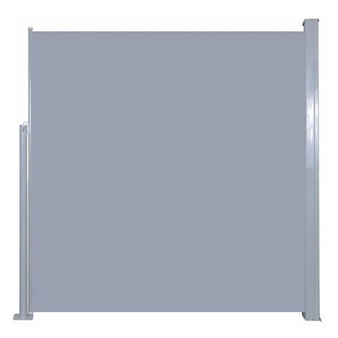 Retractable Garden Side Awning 120 X 300 Cm Silver grey + grey 1 item