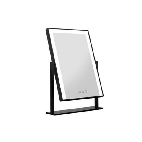 Led Makeup Mirror Hollywood Standing Mirror Tabletop Vanity Black 1 item