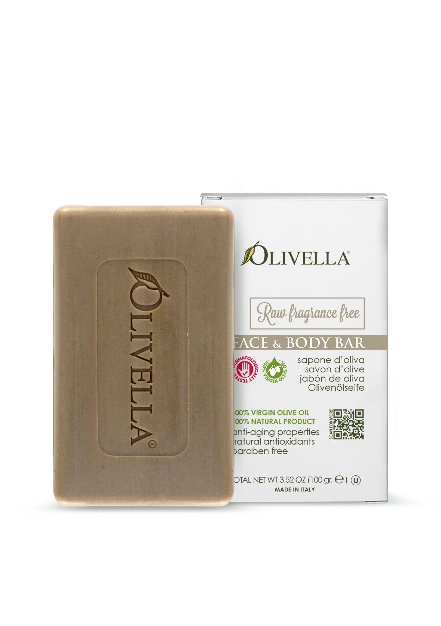 Olivella Face & Body Bar Soap - Fragrance-free
