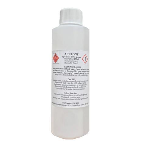Pure 100 Percent Acetone Remover Propanone Liquid Nail Polish Solvent 250 ml
