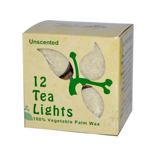 Aloha Bay Palm Wax Tea Lights With Aluminum Holder Cream (1x12/.7 Oz)