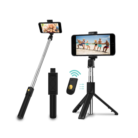 Bluetooth Selfie Tripod Extendable Stick Phone With Remote 1 item